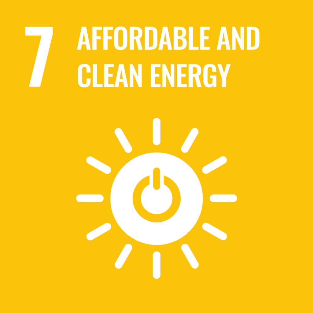 UN's sustainability goal 7 - Affordable and clean energy
