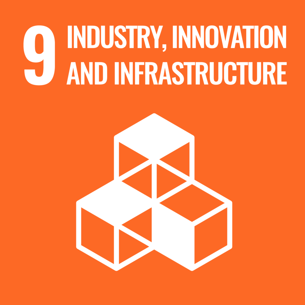 UN's sustainability goal 9, industry, innovation and infrastructure